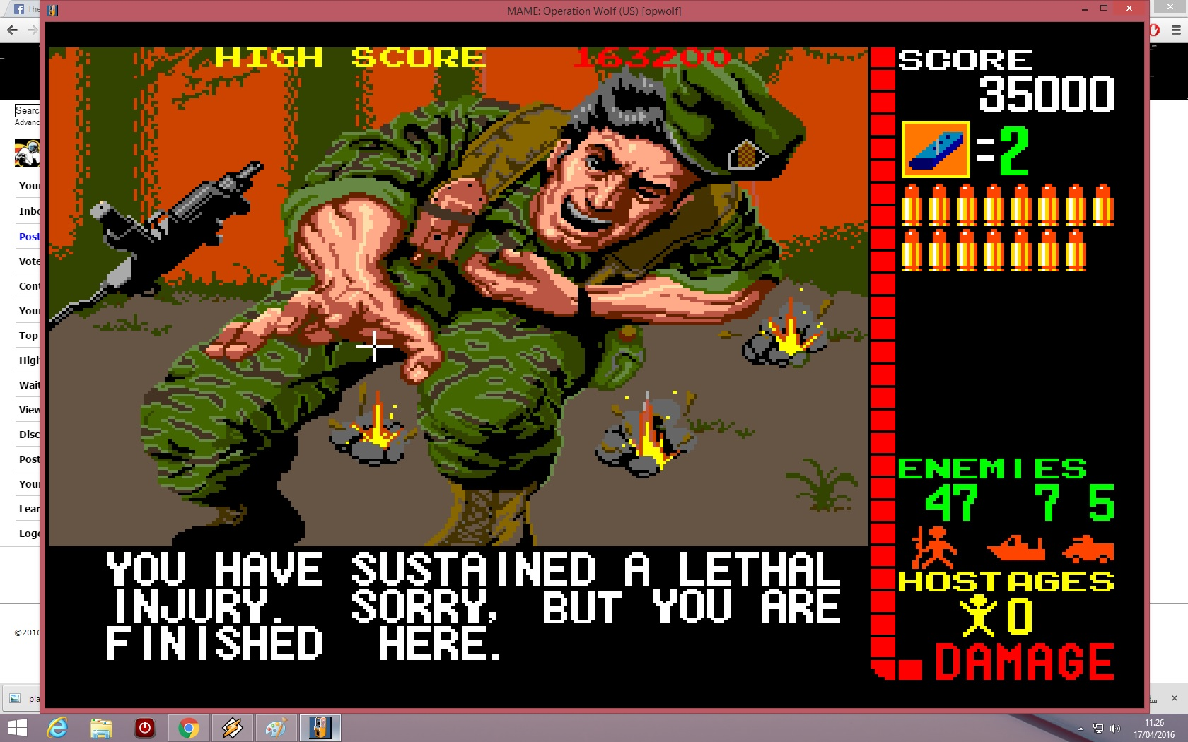 lenny2571: Operation Wolf (Arcade Emulated / M.A.M.E.) 35,000 points on 2016-04-17 04:26:40