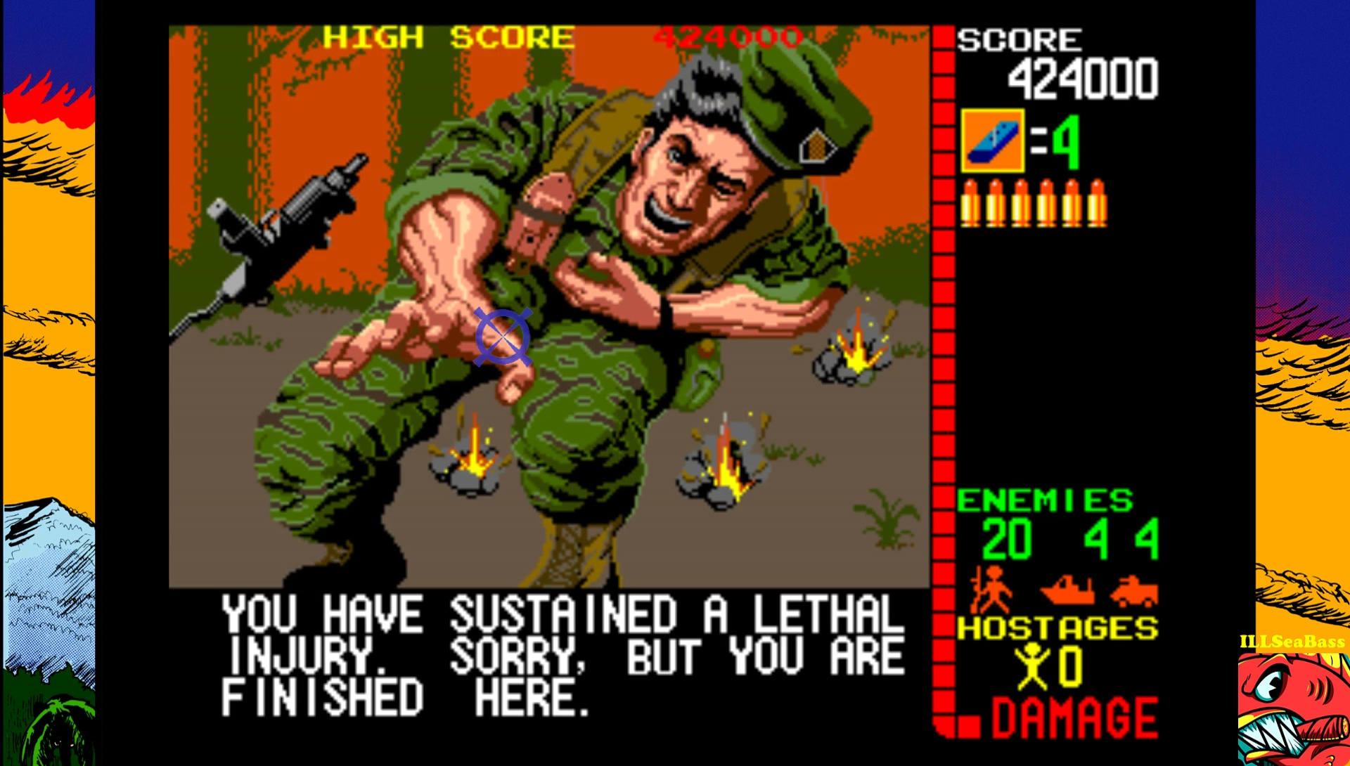ILLSeaBass: Operation Wolf (Arcade Emulated / M.A.M.E.) 424,000 points on 2017-03-05 13:33:07