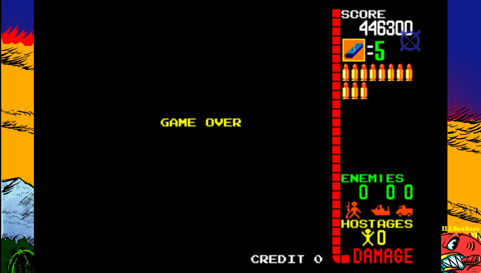 ILLSeaBass: Operation Wolf (Arcade Emulated / M.A.M.E.) 446,300 points on 2017-04-22 13:40:04