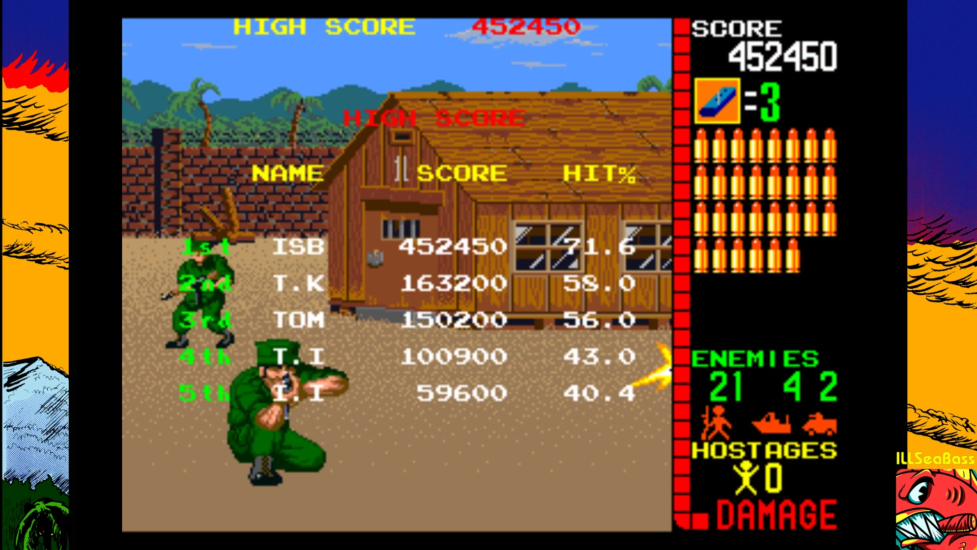 ILLSeaBass: Operation Wolf (Arcade Emulated / M.A.M.E.) 452,450 points on 2018-01-29 09:08:54