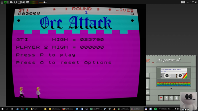 GTibel: Orc Attack (ZX Spectrum Emulated) 23,790 points on 2019-01-31 11:00:08