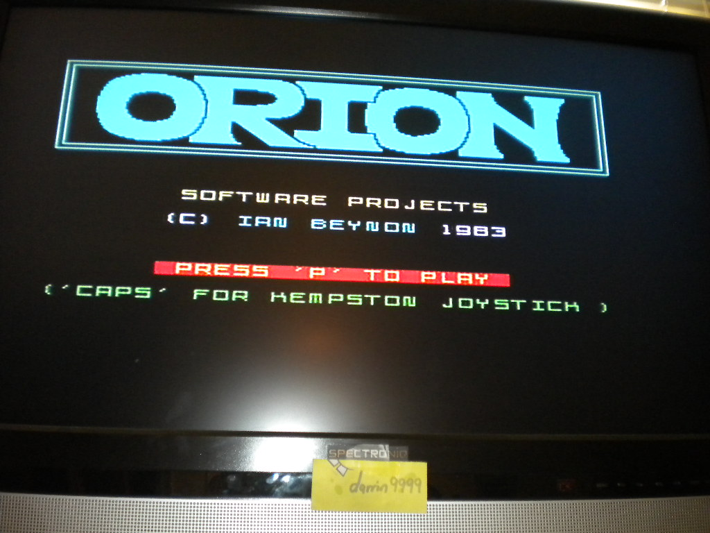 darrin9999: Orion [Software Projects] (ZX Spectrum Emulated) 500 points on 2016-07-19 17:32:19