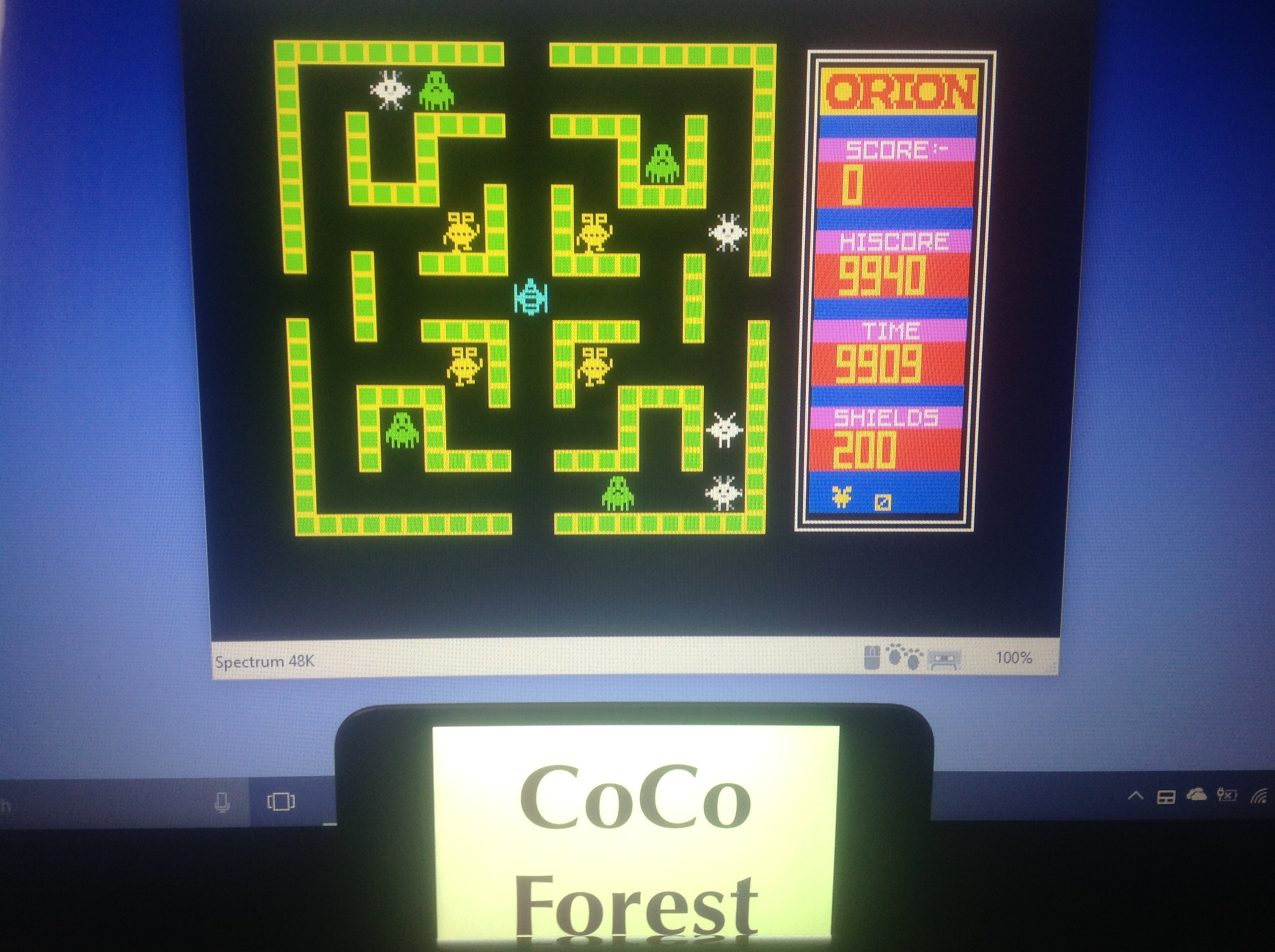 CoCoForest: Orion [Software Projects] (ZX Spectrum Emulated) 9,940 points on 2018-01-17 08:05:03