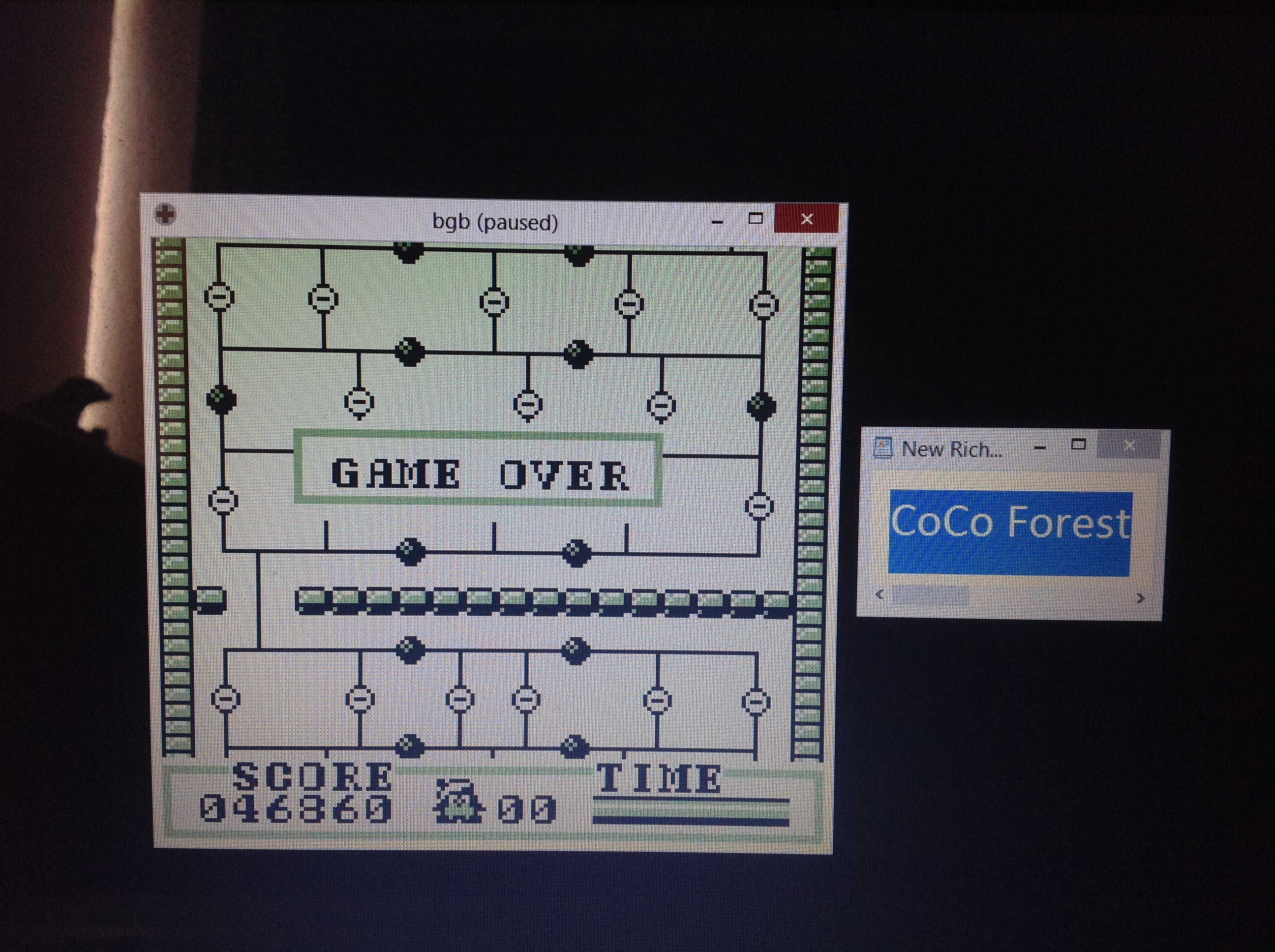 CoCoForest: Osawagase Penguin Boy (Game Boy Emulated) 46,860 points on 2018-10-09 09:15:35