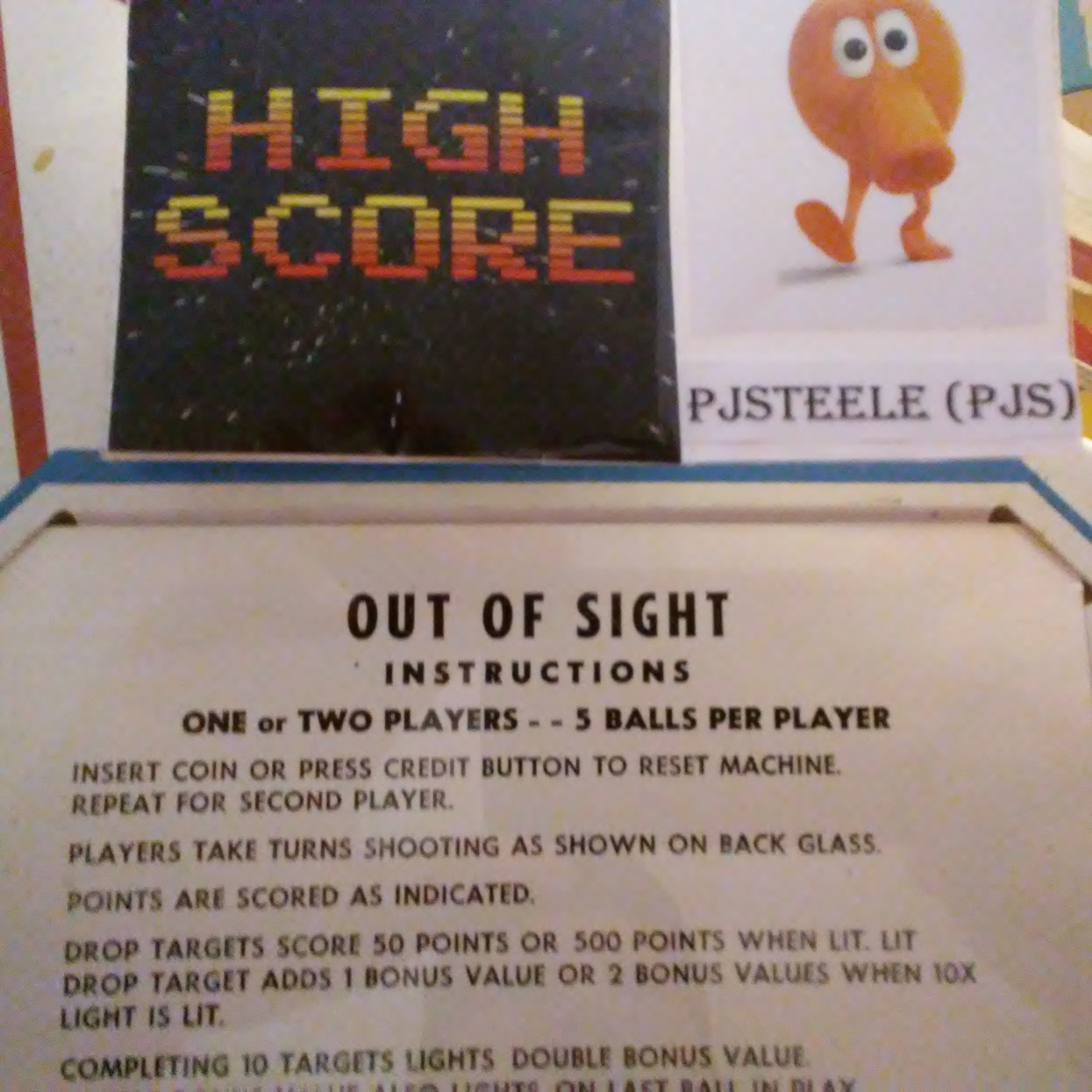 Pjsteele: Out Of Sight (Pinball: 5 Balls) 32,800 points on 2018-01-01 10:33:37