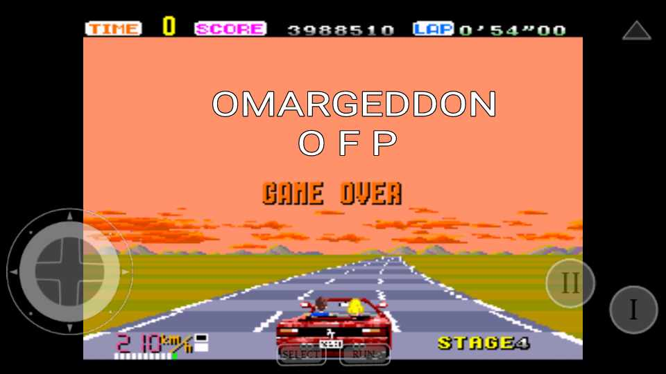 omargeddon: Out Run: Easy (TurboGrafx-16/PC Engine Emulated) 3,988,510 points on 2016-11-23 17:44:24