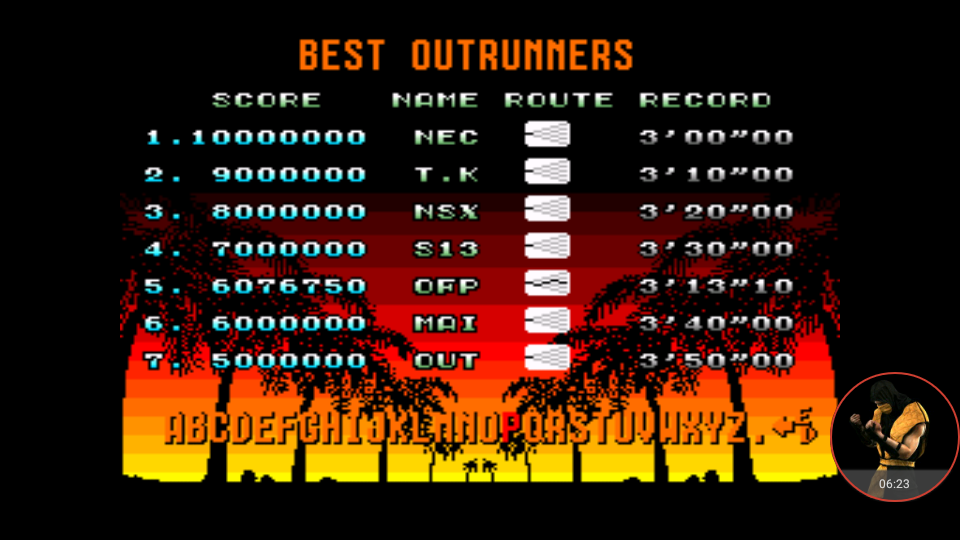 omargeddon: Out Run: Easy (TurboGrafx-16/PC Engine Emulated) 6,076,750 points on 2017-11-19 13:25:22