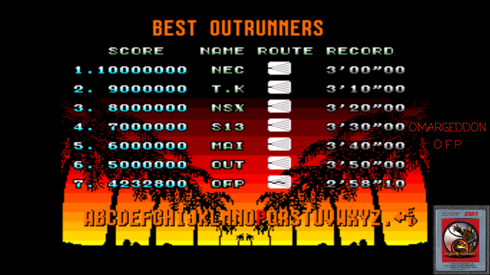 omargeddon: Out Run: Normal (TurboGrafx-16/PC Engine Emulated) 4,232,800 points on 2017-05-20 00:57:38