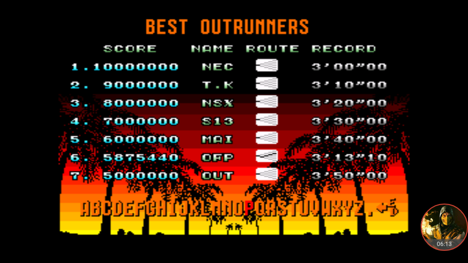 omargeddon: Out Run: Normal (TurboGrafx-16/PC Engine Emulated) 5,875,440 points on 2018-06-12 08:48:54