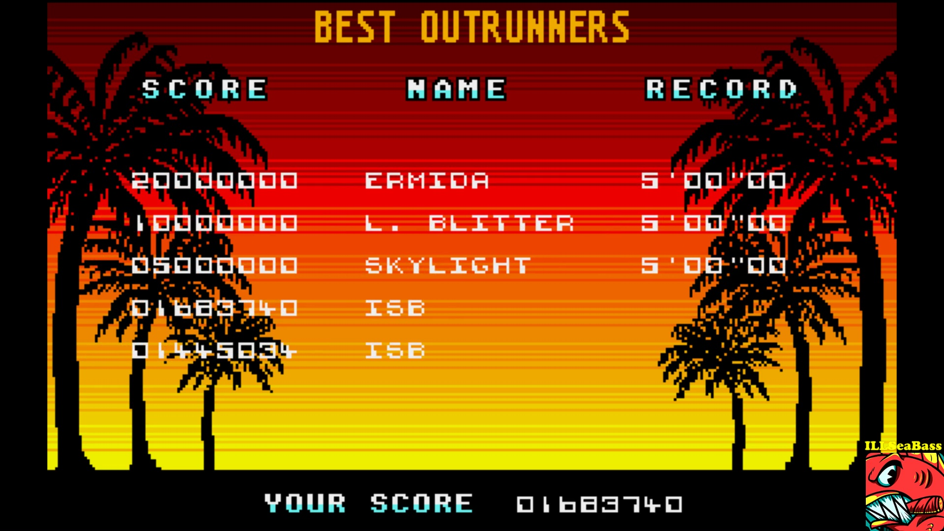 ILLSeaBass: Out Run [U.S. Gold] (Amiga Emulated) 1,683,740 points on 2017-10-28 22:28:51