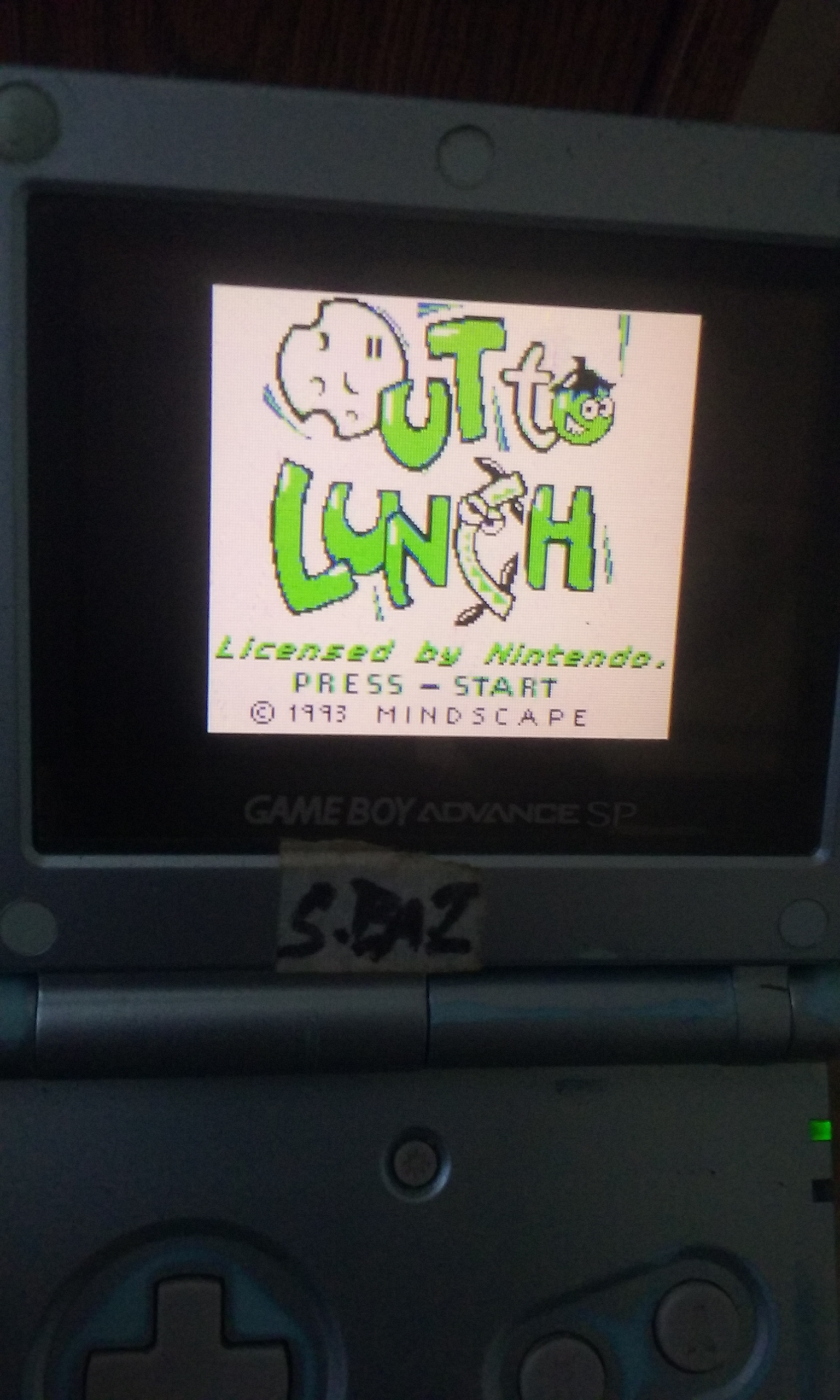 S.BAZ: Out To Lunch (Game Boy) 180 points on 2019-11-24 18:28:56