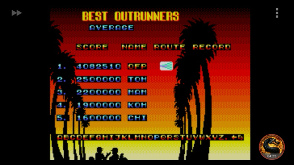 omargeddon: OutRun 3D [Average] (Sega Master System Emulated) 4,082,510 points on 2018-09-04 11:19:27