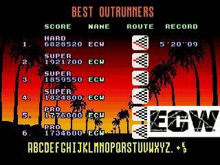 ecworiginal: OutRun [Hard] (Sega Genesis / MegaDrive Emulated) 6,828,520 points on 2016-03-14 17:37:12