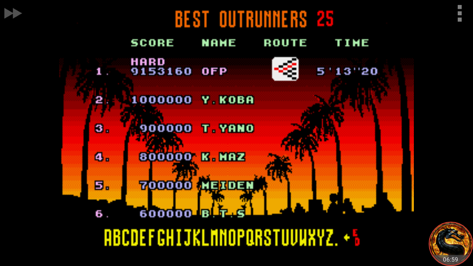 omargeddon: OutRun [Hard] (Sega Genesis / MegaDrive Emulated) 9,153,160 points on 2018-08-30 00:00:56
