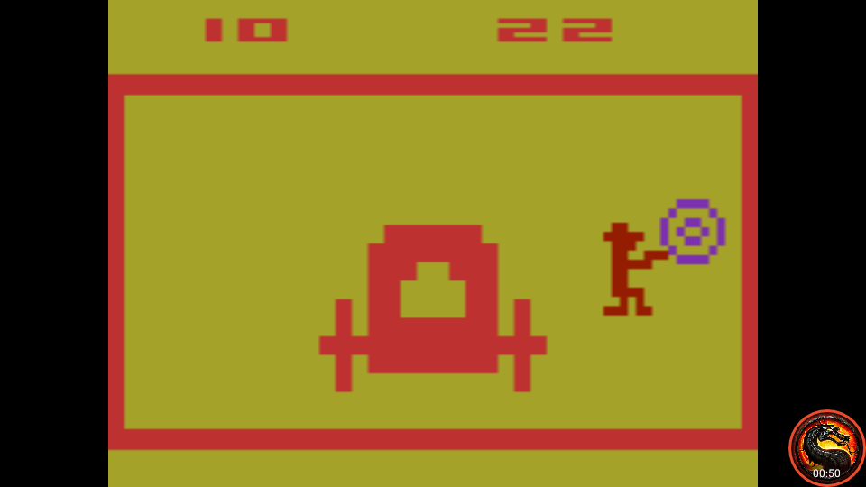omargeddon: Outlaw: Game 16 [Fastest Time To 10 Points] (Atari 2600 Emulated Expert/A Mode) 22 points on 2020-05-31 01:02:56