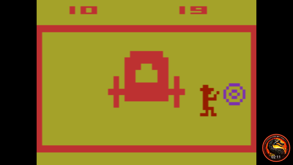 omargeddon: Outlaw: Game 16 [Fastest Time To 10 Points] (Atari 2600 Emulated Novice/B Mode) 19 points on 2020-02-21 19:53:57