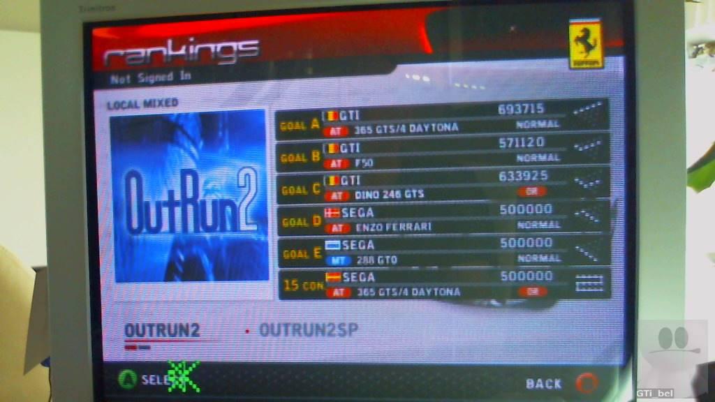 GTibel: Outrun 2006 Coast 2 Coast: OUTRUN 2: Goal A (Xbox) 693,715 points on 2018-08-26 05:11:40