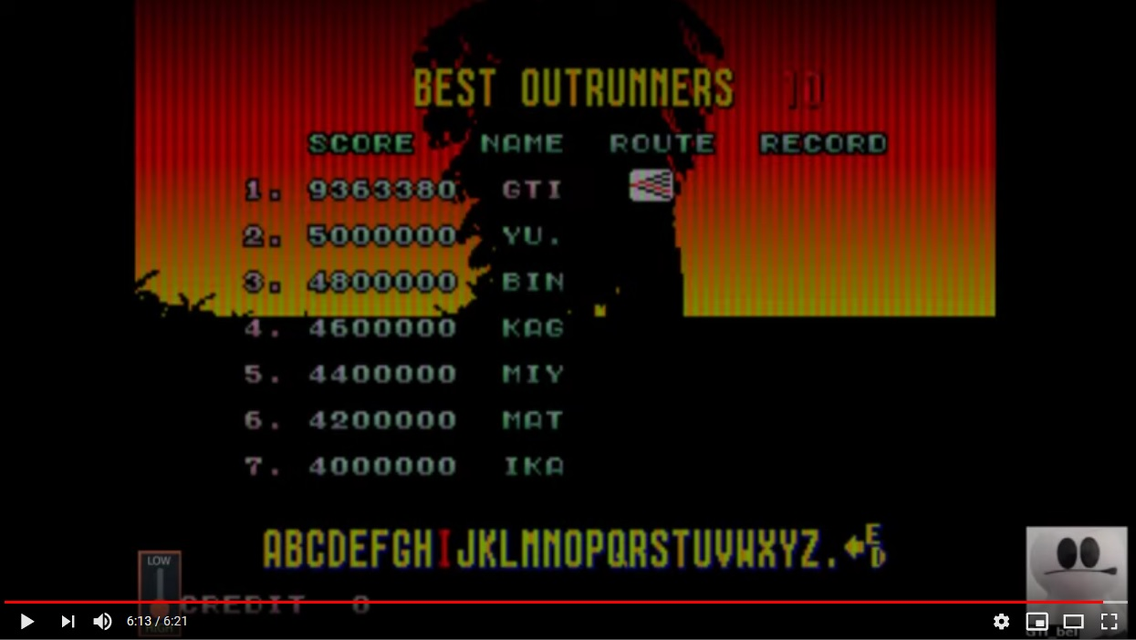 Outrun 9,363,380 points