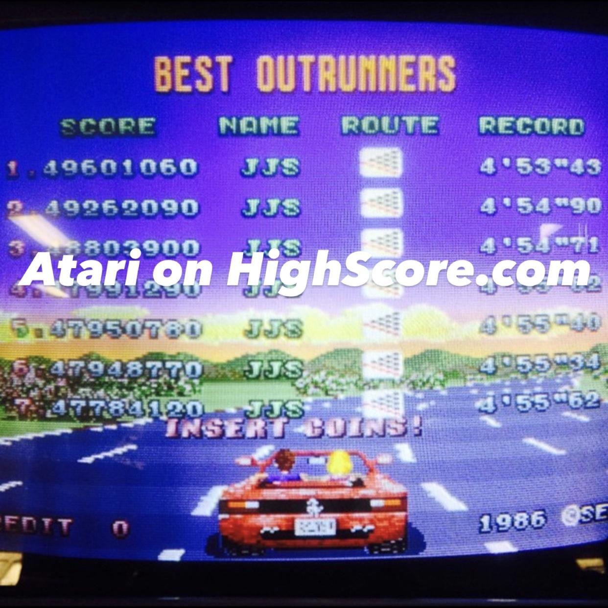 Atari: Outrun (Arcade) 49,262,090 points on 2020-09-05 22:23:36