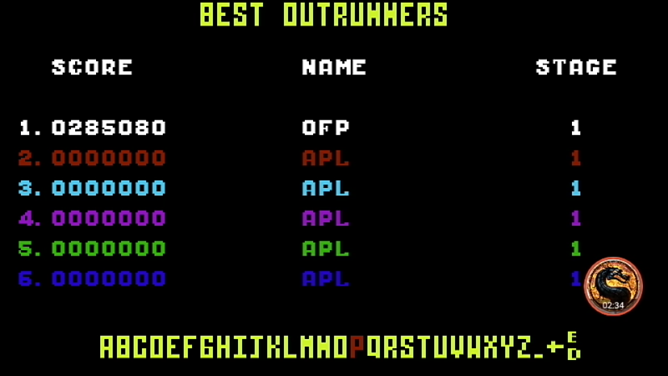 omargeddon: Outrun: Course A (Commodore 64 Emulated) 285,080 points on 2019-09-08 13:51:18
