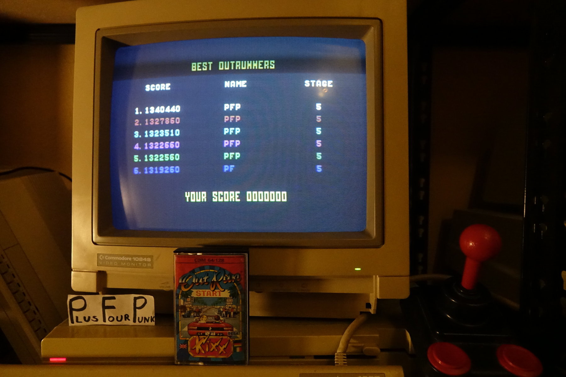 plus4punk: Outrun: Course A (Commodore 64) 1,340,440 points on 2020-03-31 15:34:24
