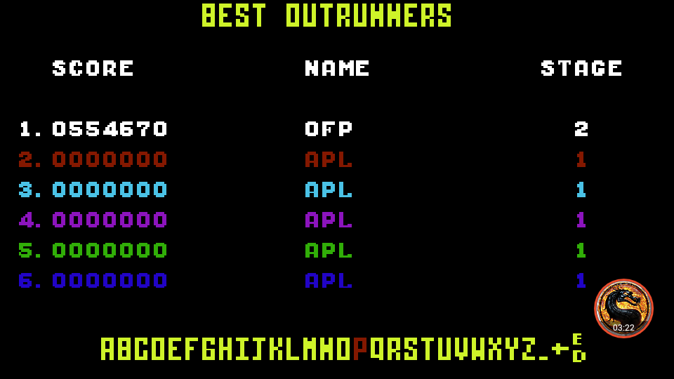 omargeddon: Outrun: Course B (Commodore 64 Emulated) 554,670 points on 2019-09-08 13:49:13