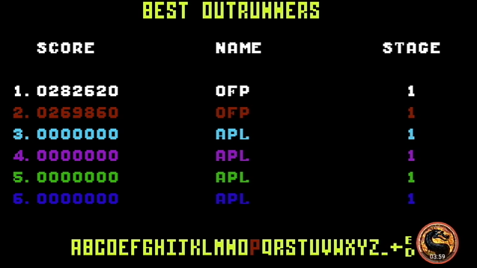 omargeddon: Outrun: Course C (Commodore 64 Emulated) 282,620 points on 2019-09-08 12:58:37