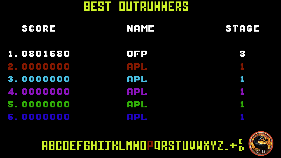 omargeddon: Outrun: Course E (Commodore 64 Emulated) 801,680 points on 2019-09-08 13:46:24