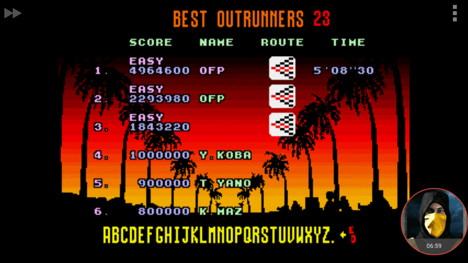 omargeddon: Outrun [Easy] (Sega Genesis / MegaDrive Emulated) 4,964,600 points on 2018-01-26 16:08:58