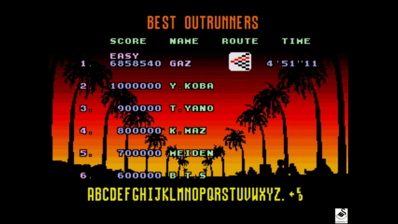 Outrun [Easy] 6,858,540 points
