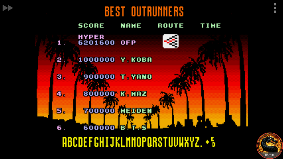 omargeddon: Outrun [Hyper] (Sega Genesis / MegaDrive Emulated) 6,201,600 points on 2018-08-31 20:33:54