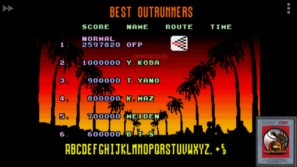 Outrun: Normal 2,597,820 points