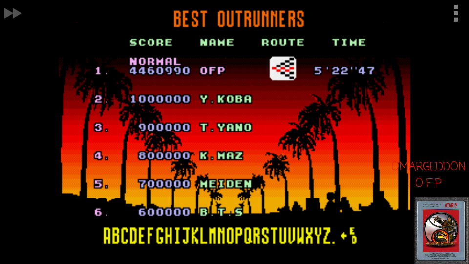 Outrun: Normal 4,460,990 points
