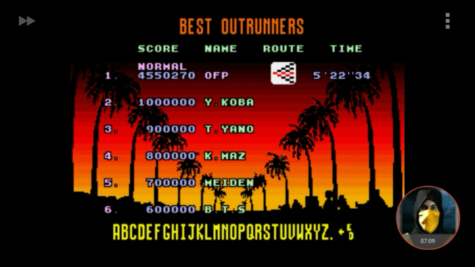 omargeddon: Outrun: Normal (Sega Genesis / MegaDrive Emulated) 4,550,270 points on 2018-01-26 21:34:07