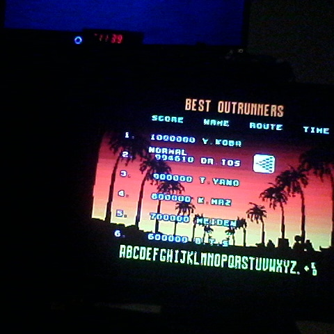 Outrun: Normal 994,610 points