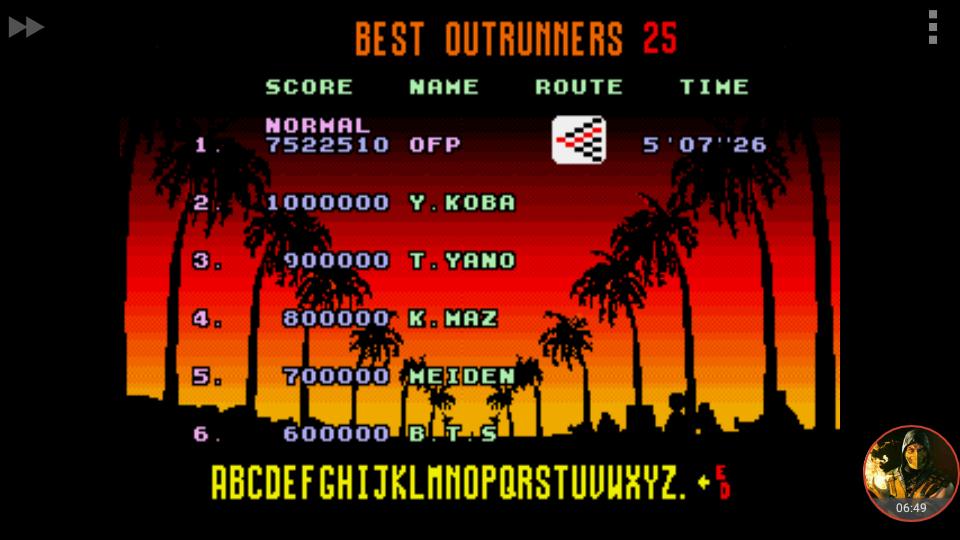 omargeddon: Outrun: Normal (Sega Genesis / MegaDrive Emulated) 7,522,510 points on 2018-06-17 16:46:50