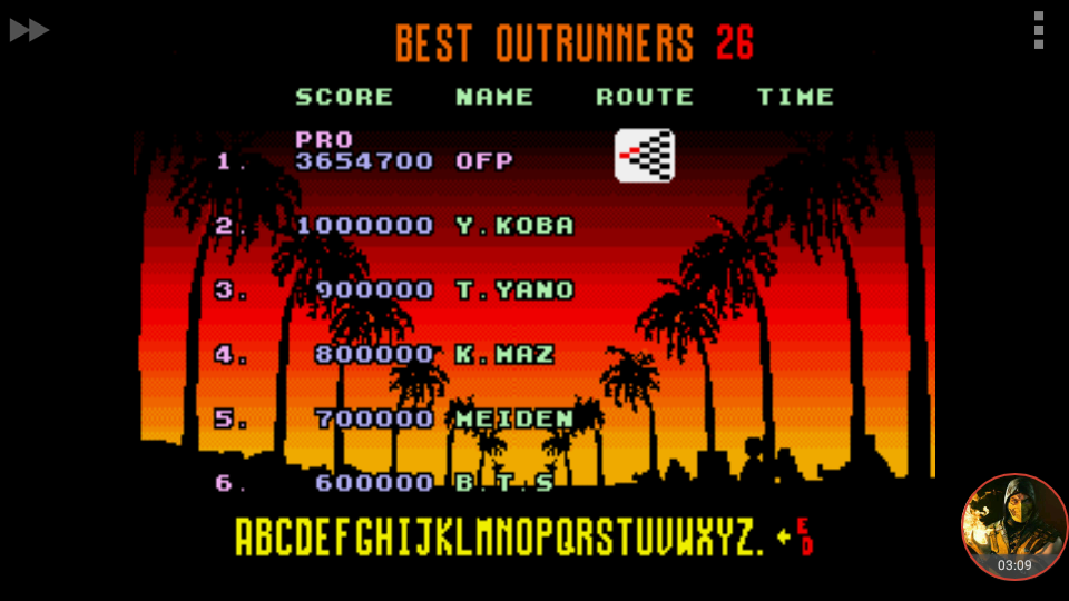 omargeddon: Outrun [Pro] (Sega Genesis / MegaDrive Emulated) 3,654,700 points on 2018-06-17 00:39:38