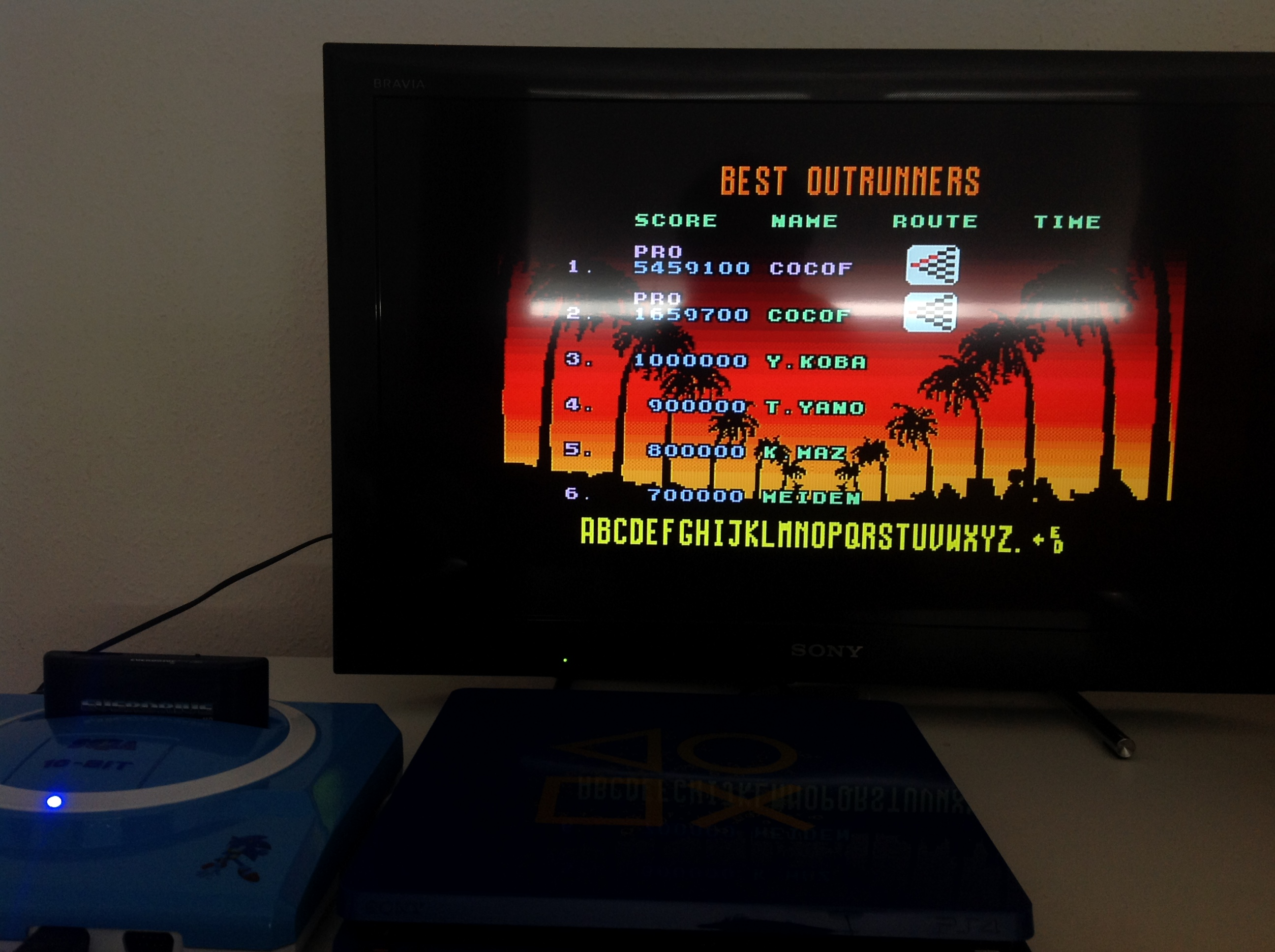 CoCoForest: Outrun [Pro] (Sega Genesis / MegaDrive) 5,459,100 points on 2018-07-18 08:02:13