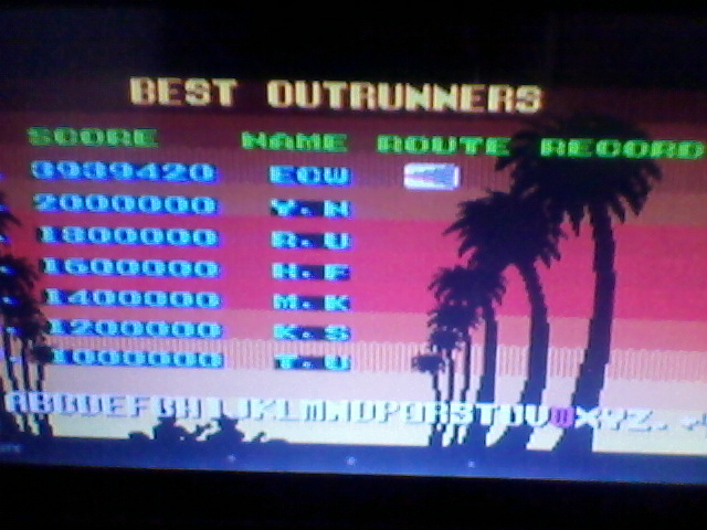 Outrun 3,939,420 points