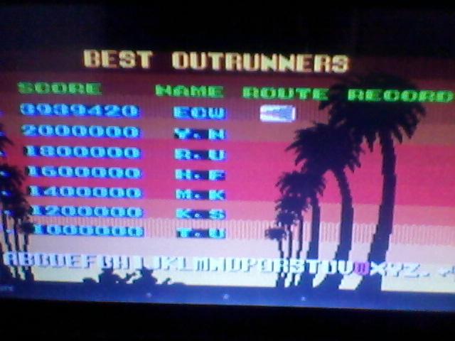 ecworiginal: Outrun (Sega Master System Emulated) 3,939,420 points on 2015-12-17 08:56:05