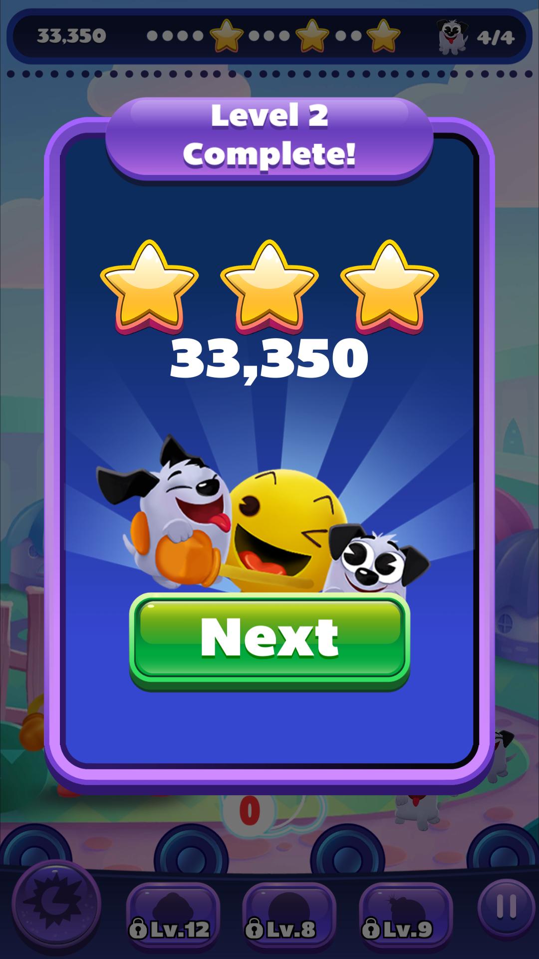 PAC-MAN Pop: Level 002 33,350 points