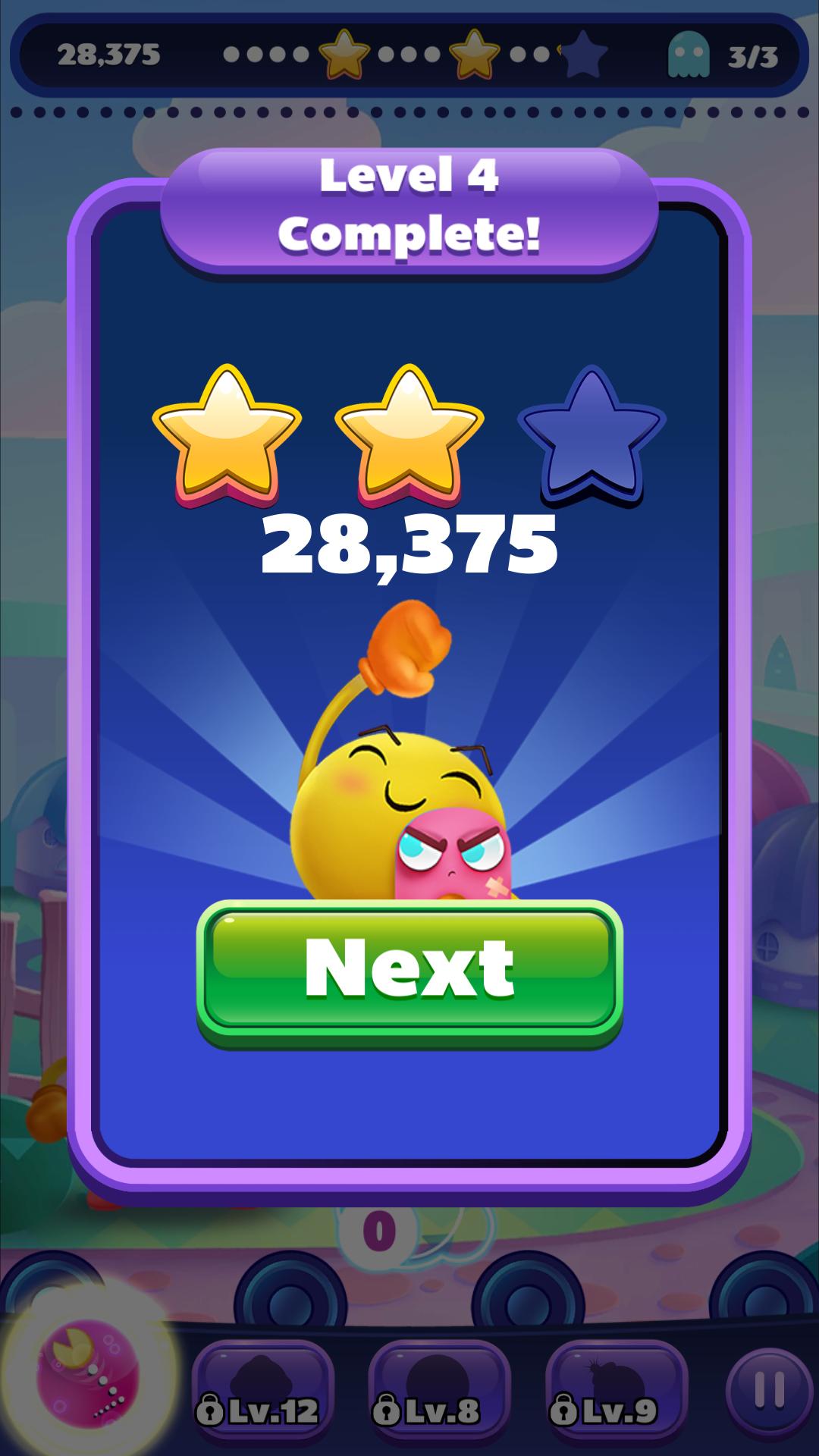 PAC-MAN Pop: Level 004 28,375 points