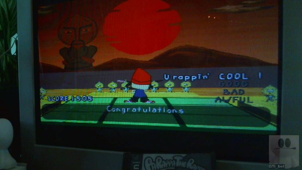 GTibel: PaRappa The Rapper: Stage 1 [Chop Chop Master Onion/Normal] (Playstation 1) 1,505 points on 2018-03-07 06:56:51