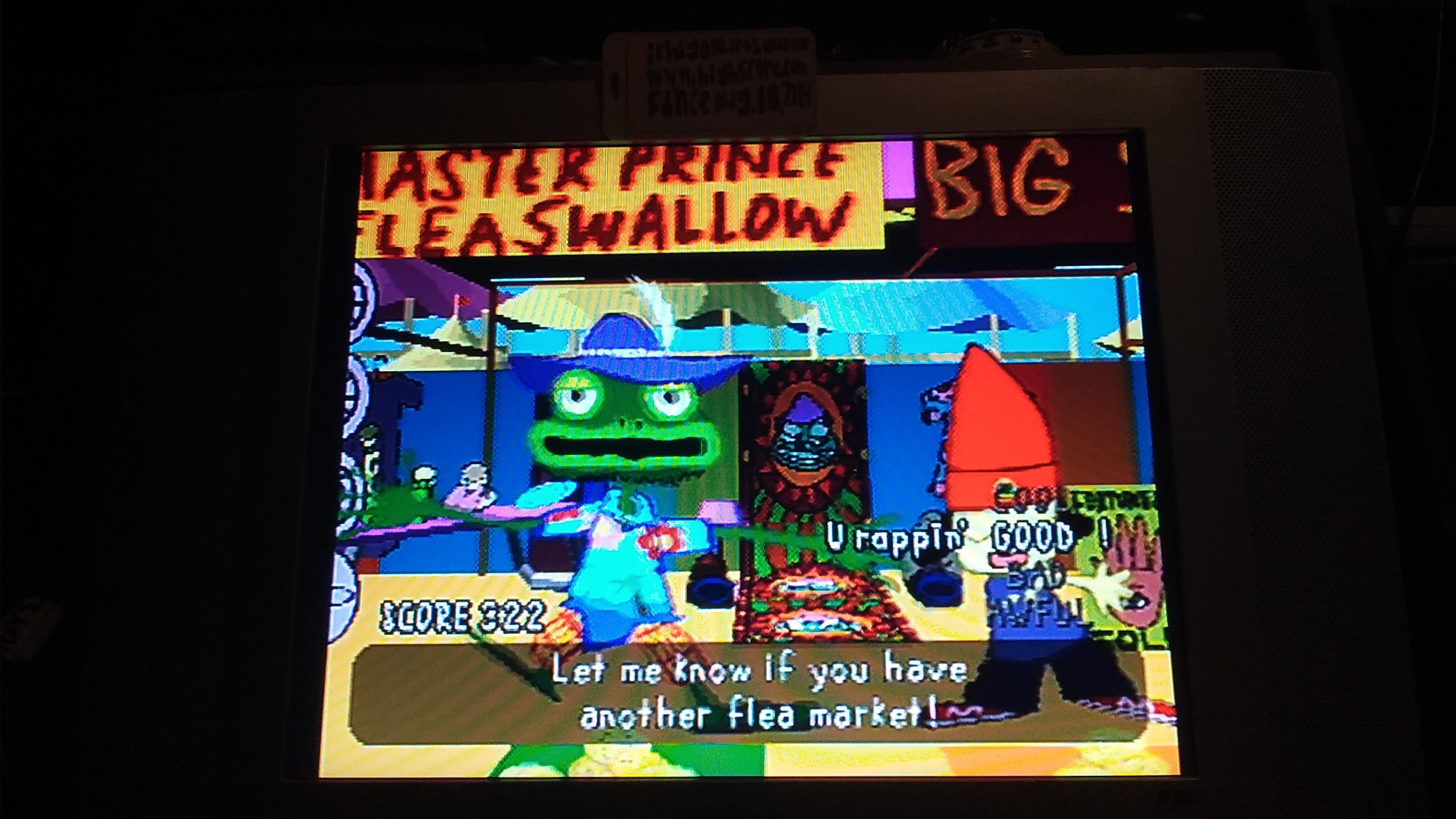 ichigokurosaki1991: PaRappa The Rapper: Stage 3 [Prince Fleaswallow/Easy] (Playstation 1) 322 points on 2016-11-09 02:45:27