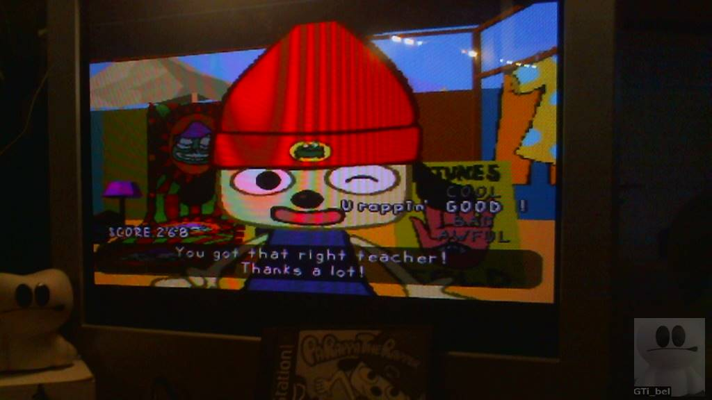 GTibel: PaRappa The Rapper: Stage 3 [Prince Fleaswallow/Easy] (Playstation 1) 268 points on 2018-03-04 11:37:23