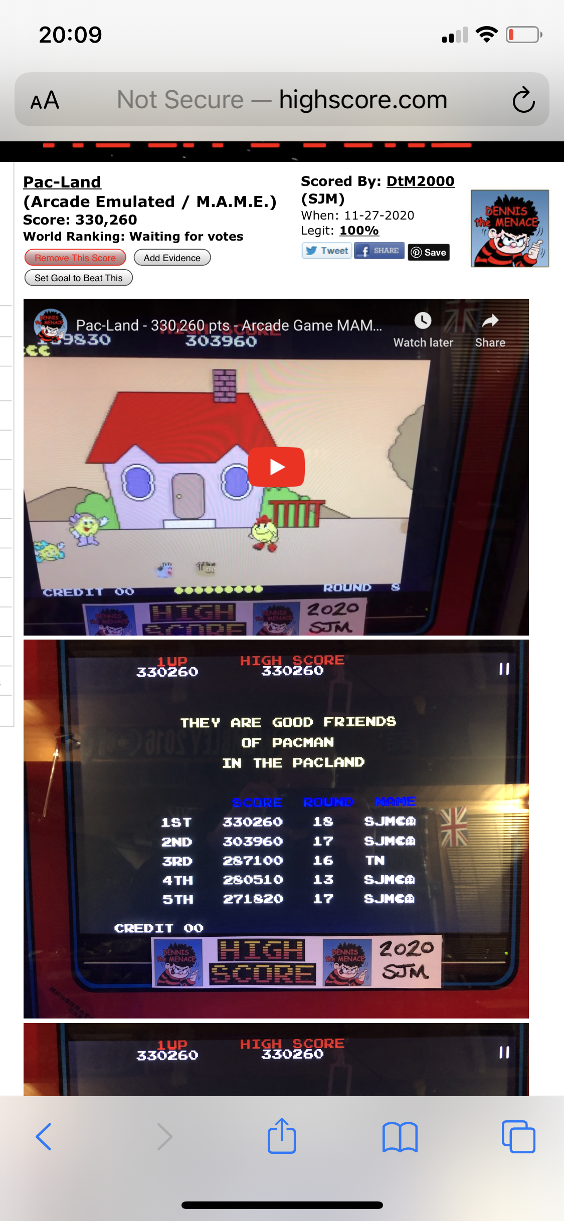 DtM2000: Pac-Land (Arcade Emulated / M.A.M.E.) 330,260 points on 2020-12-23 14:19:07