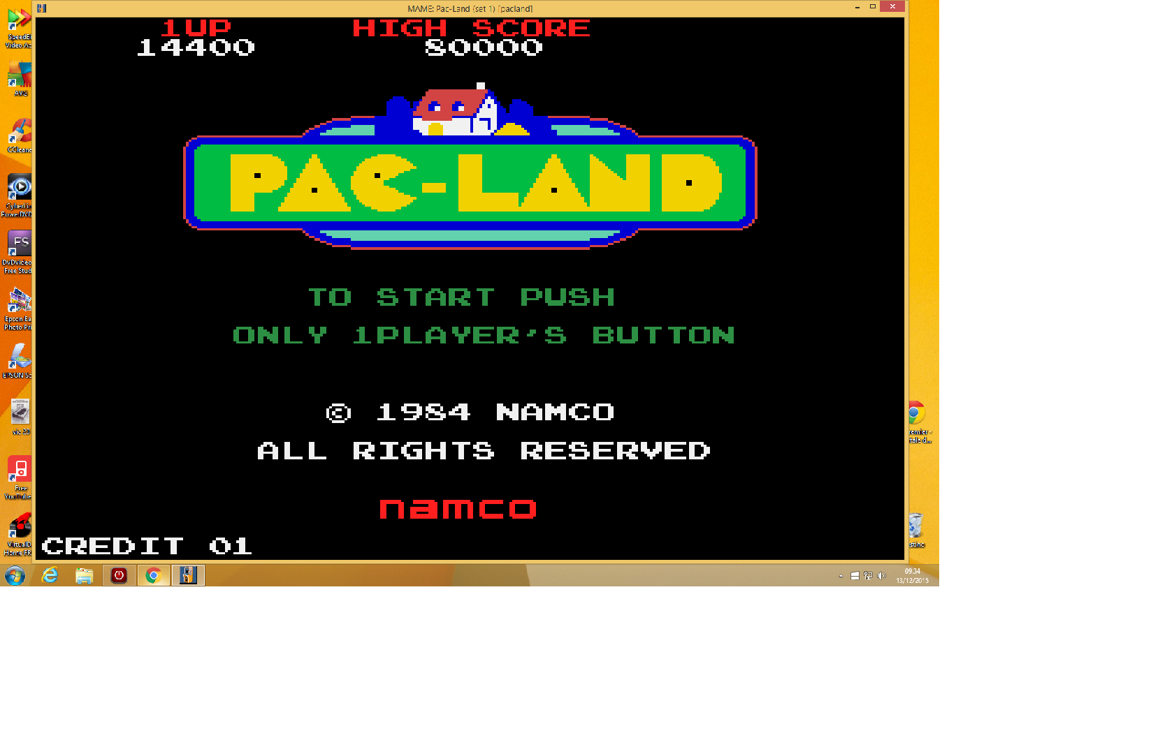 Pac-Land 14,400 points