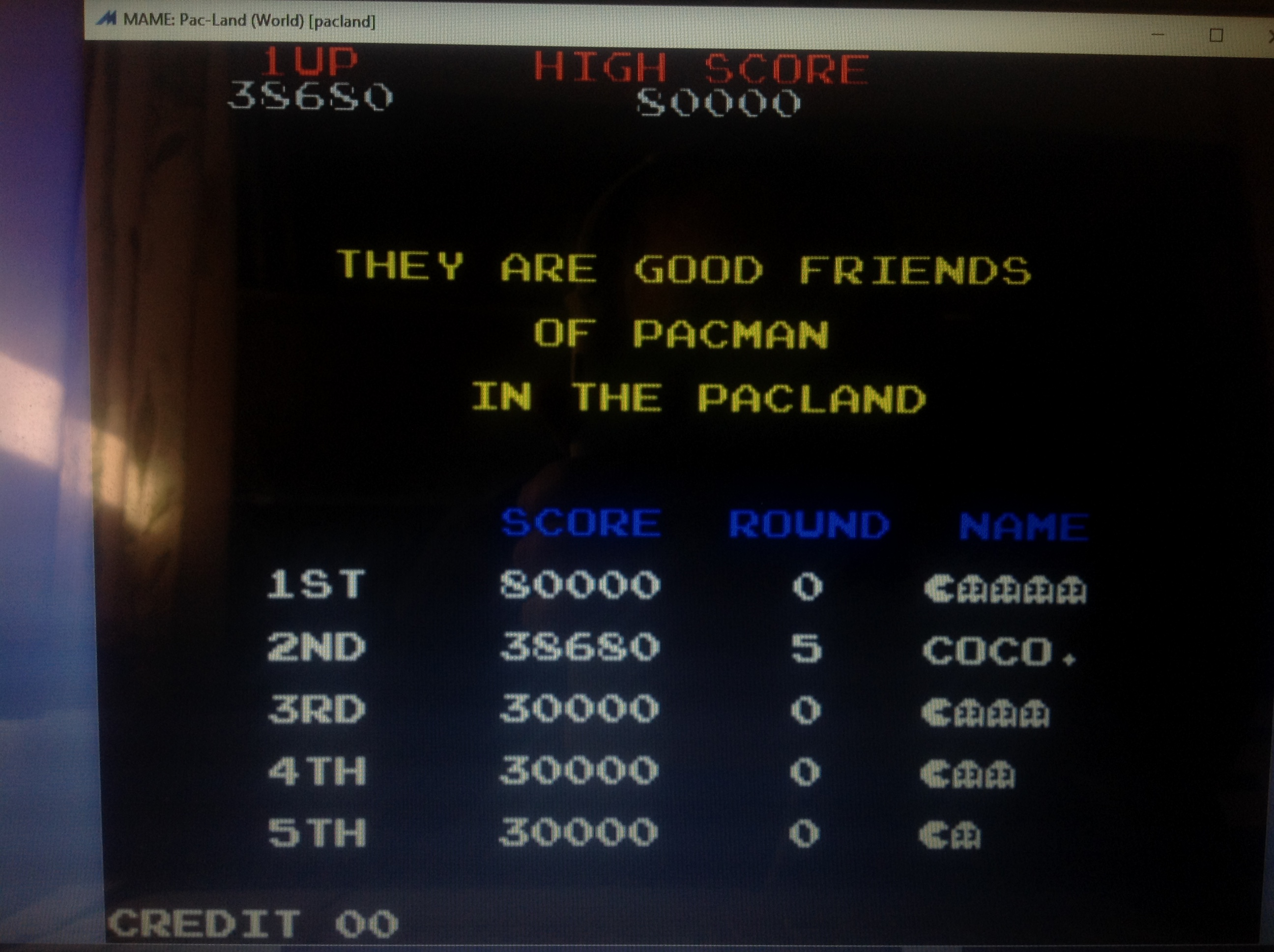 CoCoForest: Pac-Land (Arcade Emulated / M.A.M.E.) 38,680 points on 2018-02-01 06:05:49