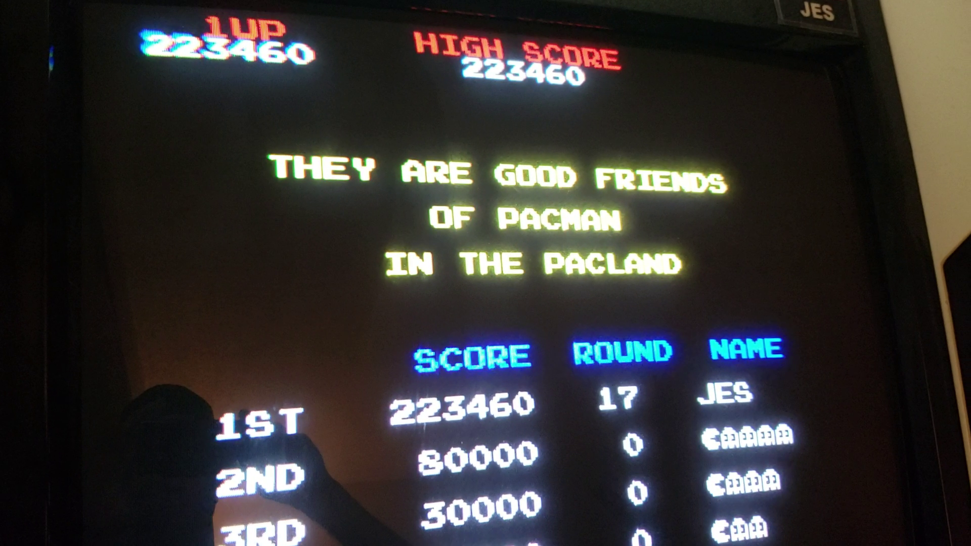 JES: Pac-Land (Arcade Emulated / M.A.M.E.) 223,460 points on 2019-06-16 01:50:22