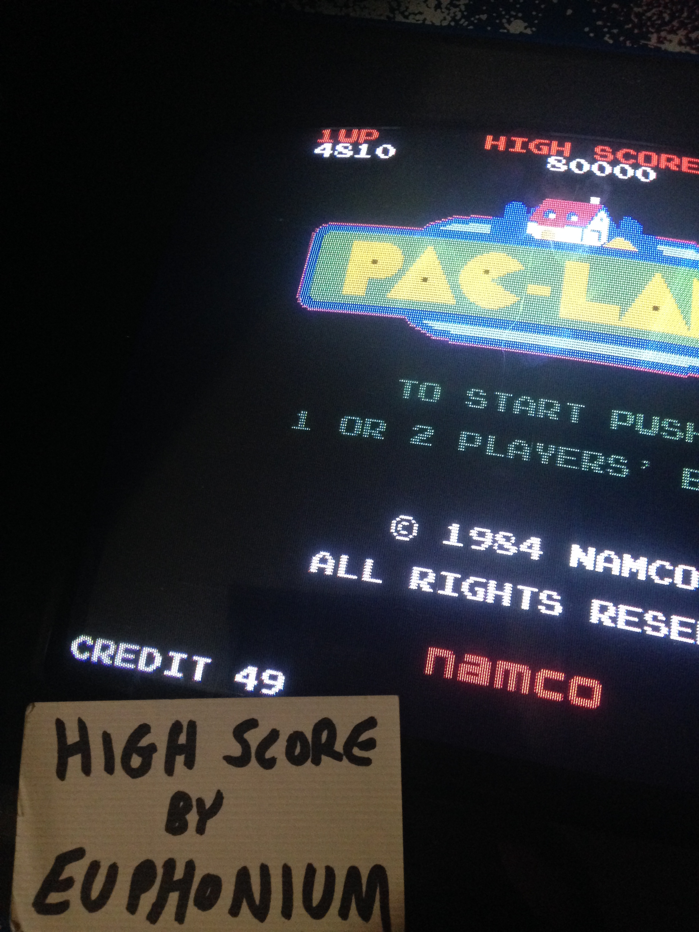 Pac-Land 4,810 points